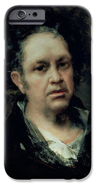 Painter iPhone Cases - Self Portrait, 1815 Oil On Canvas iPhone Case by Francisco Jose de Goya y Lucientes
