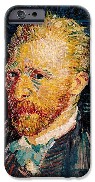 Painter Photographs iPhone Cases - Self Portrait, 1887 Oil On Canvas iPhone Case by Vincent van Gogh