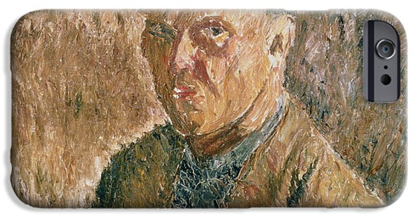 Painter Photographs iPhone Cases - Self Portrait, 1923 Oil On Canvas iPhone Case by Aleksandr Davidovic Drevin