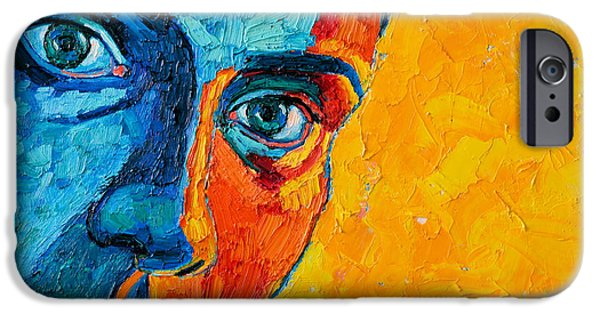 Young Paintings iPhone Cases - Self Portrait iPhone Case by Ana Maria Edulescu