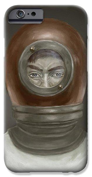 Men iPhone Cases - Self Portrait iPhone Case by Balazs Solti
