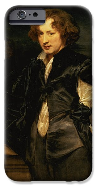 Slash iPhone Cases - Self Portrait, C.1620-21 Oil On Canvas iPhone Case by Sir Anthony van Dyck