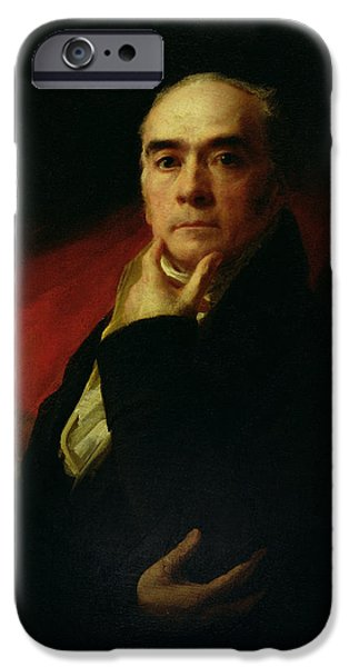 Painter Photographs iPhone Cases - Self Portrait, C.1815 Oil On Canvas iPhone Case by Sir Henry Raeburn