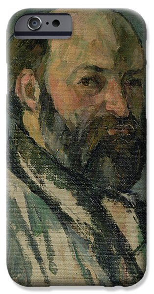 Painter Photographs iPhone Cases - Self Portrait, C.1877-80 Oil On Canvas iPhone Case by Paul Cezanne