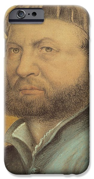 Young Pastels iPhone Cases - Self Portrait iPhone Case by Hans Holbein