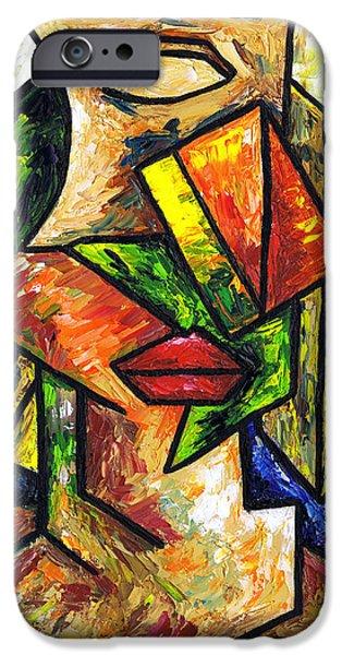 Artist Self Portrait Paintings iPhone Cases - Self Portrait iPhone Case by Kamil Swiatek