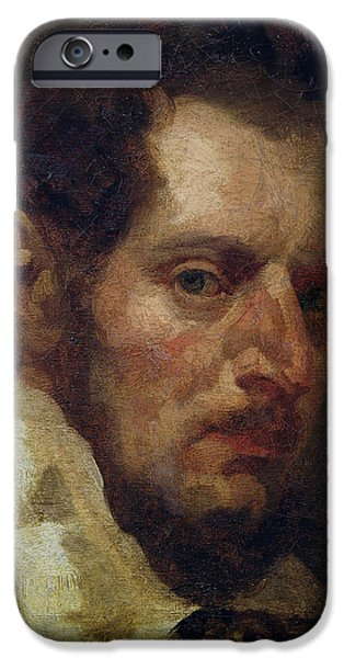 Painter Photographs iPhone Cases - Self Portrait Oil On Canvas iPhone Case by Theodore Gericault