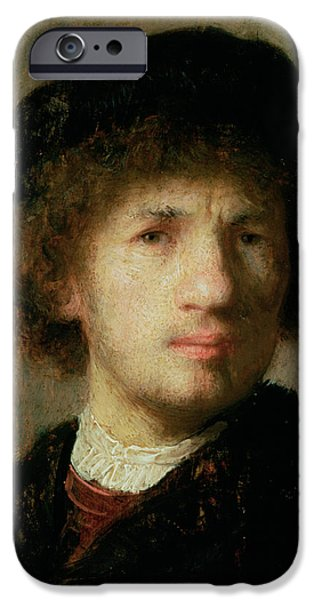 Well-known iPhone Cases - Self Portrait iPhone Case by Rembrandt Harmenszoon van Rijn