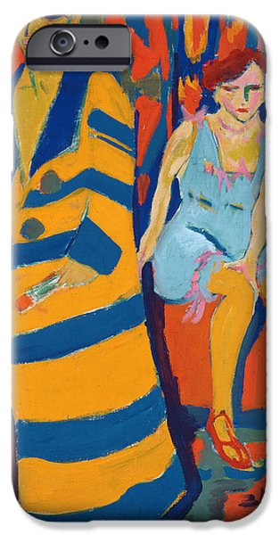 Recently Sold -  - Abstract Expressionist iPhone Cases - Self Portrait with a Model iPhone Case by Ernst Ludwig Kirchner
