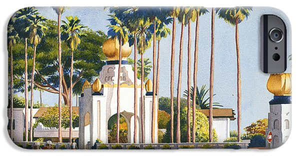 Volkswagen iPhone Cases - Self Realization Fellowship Encinitas iPhone Case by Mary Helmreich