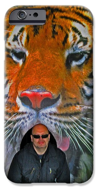 Allegoric iPhone Cases - Selfie with the tiger. iPhone Case by Andy Za