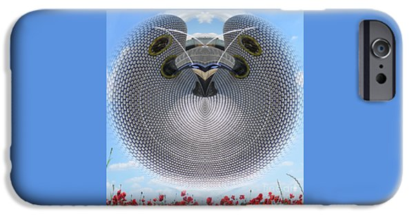 Mounds Mixed Media iPhone Cases - Selfridges Birmingham Bull Ring iPhone Case by Neil Finnemore