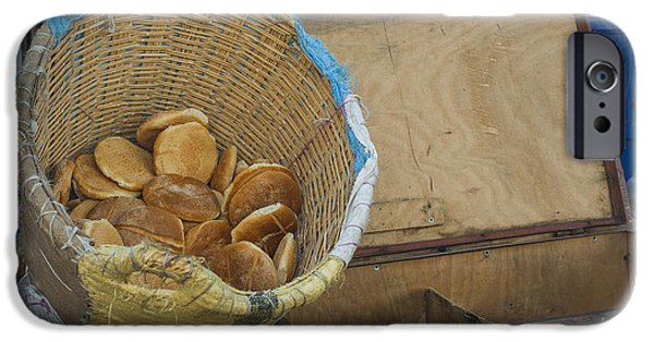 Rabat Photographs iPhone Cases - Selling Pita Bread iPhone Case by Patricia Hofmeester