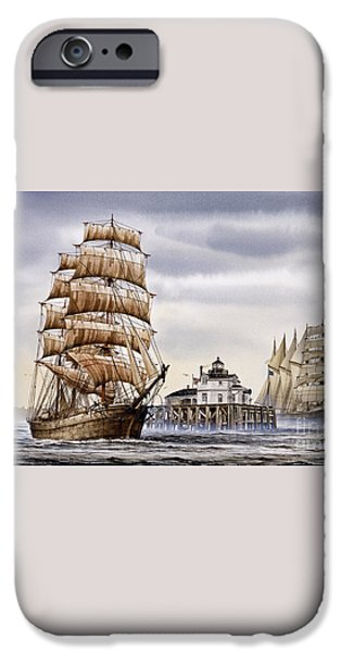 Semi-ah-moo Lighthouse iPhone Case by James Williamson