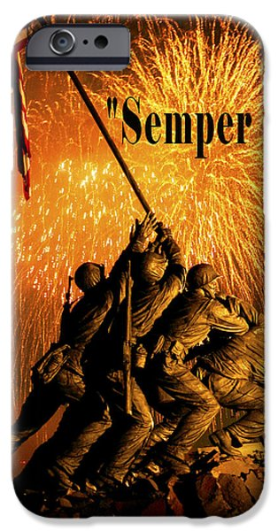 Admiral Digital iPhone Cases - Semper Fi iPhone Case by Government Photographer