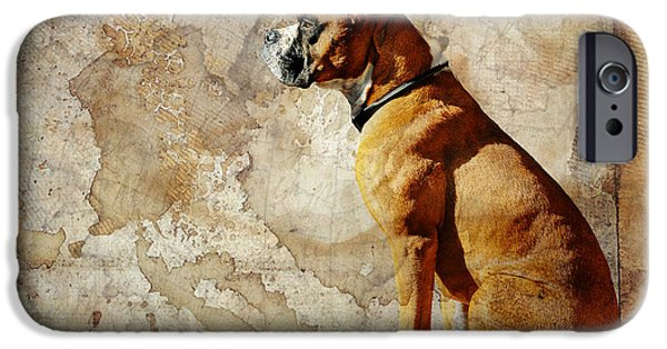Boxer Digital iPhone Cases - Semper Fidelis iPhone Case by Judy Wood