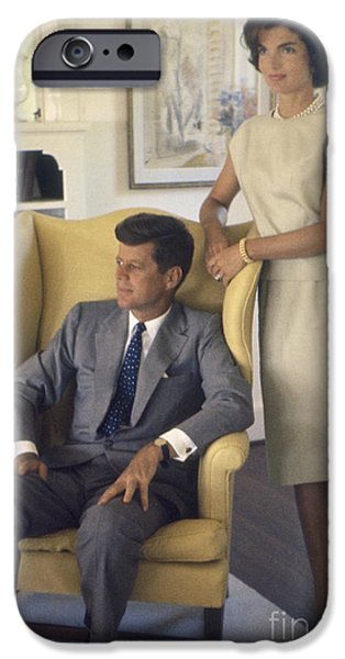 Cape Cod iPhone Cases - Senator John F. Kennedy with Jacqueline 1959 iPhone Case by The Phillip Harrington Collection