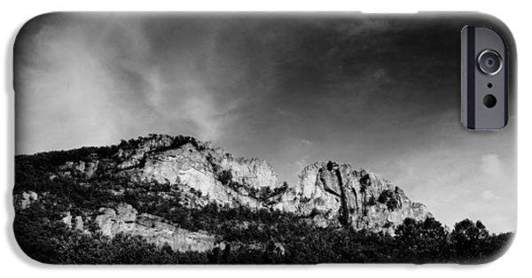 Monochrome iPhone Cases - Seneca Rocks iPhone Case by Shane Holsclaw
