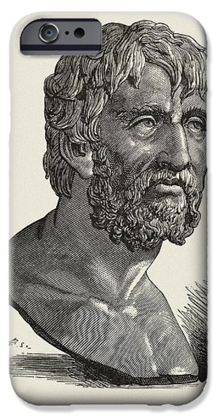 Orator iPhone Cases - Seneca The Elder, Roman Orator iPhone Case by Middle Temple Library