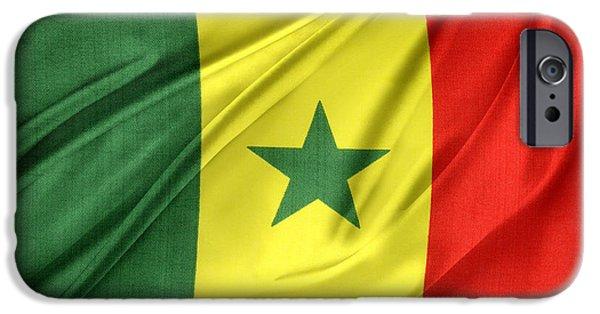 Patriotism iPhone Cases - Senegal flag iPhone Case by Les Cunliffe