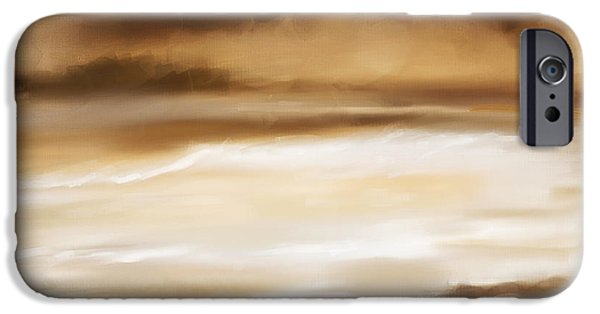 Abstract Seascape iPhone Cases - Sense Of Calmness iPhone Case by Lourry Legarde
