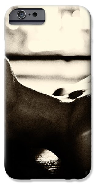 Seductive iPhone Cases - Sensual closeup of young woman making love in front of fireplace iPhone Case by Oleksiy Maksymenko