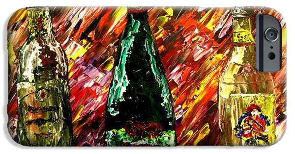 Pallet Knife Paintings iPhone Cases - Sensual Explosion  iPhone Case by Mark Moore