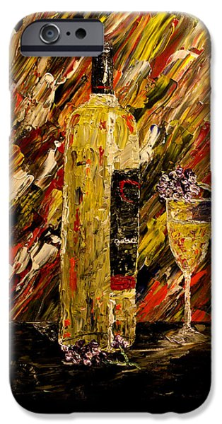 Vintage Wine Lovers iPhone Cases - Sensual Nights Named iPhone Case by Mark Moore