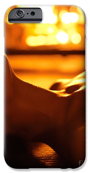 Seductive iPhone Cases - Sensual photo of Naked Woman in Front of Fireplace iPhone Case by Oleksiy Maksymenko