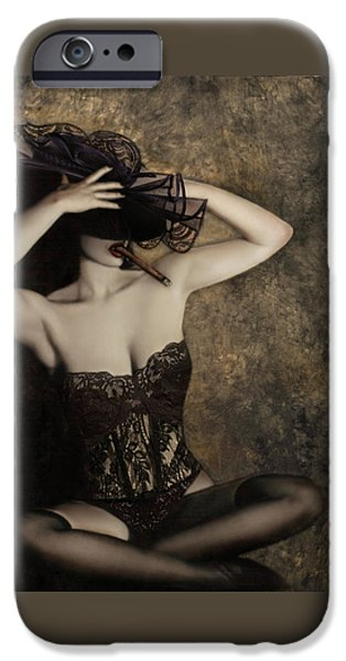 Sensuality in Sepia - Self Portrait iPhone Case by Jaeda DeWalt