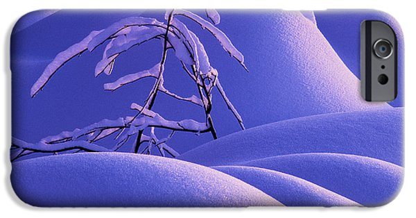Mounds iPhone Cases - Sensuous Snow iPhone Case by Michael Wheatley