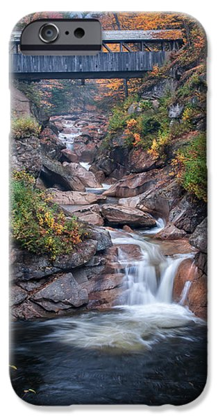 Nature Scene iPhone Cases - Sentinal Pine Bridge - White Mountains National Forest iPhone Case by Thomas Schoeller