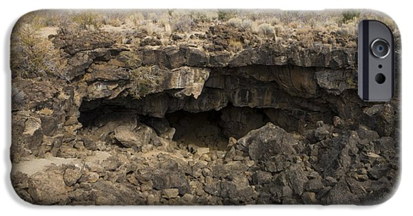 Historic Site iPhone Cases - Sentinel Lava Tube Lava Beds National Monument iPhone Case by Jason O Watson