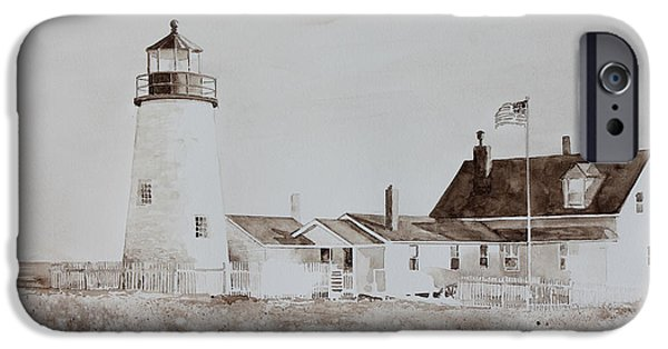 Mid-coast Maine iPhone Cases - Sepia Afternoon iPhone Case by Monte Toon