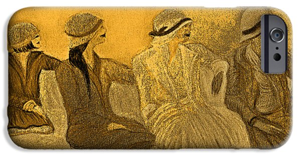 Jrr iPhone Cases - Sepia Hats by jrr iPhone Case by First Star Art