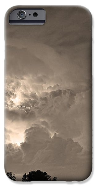 Sepia Light Show iPhone Case by James BO  Insogna