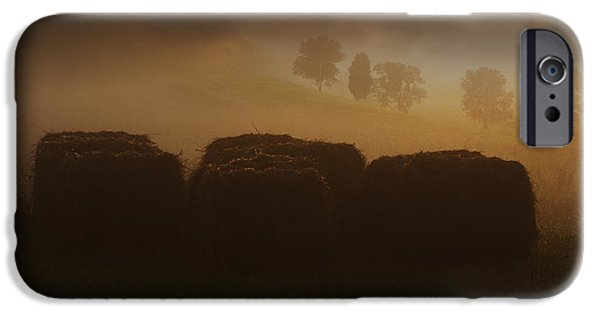 Hayfield iPhone Cases - September Mornings iPhone Case by Ron Jones