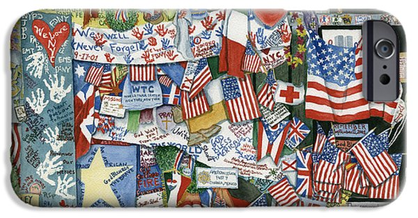Best Sellers -  - Twin Towers Nyc iPhone Cases - September Mourning iPhone Case by Rhonda Leonard