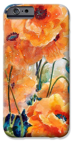 September Orange Poppies            iPhone Case by Kathy Braud
