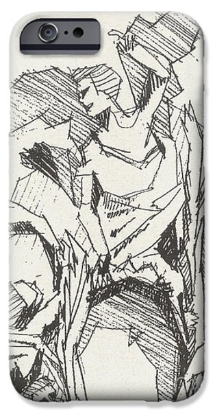 Seraphim Angel Drawings iPhone Cases - Seraphim iPhone Case by Gregory Stock