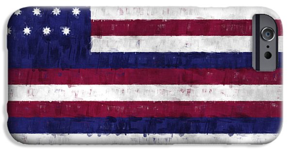 Battle Of Franklin iPhone Cases - Serapis Flag iPhone Case by World Art Prints And Designs