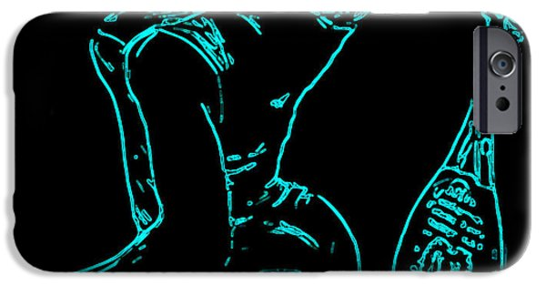 Wta iPhone Cases - Serena Glowing Catsuit II iPhone Case by Brian Reaves