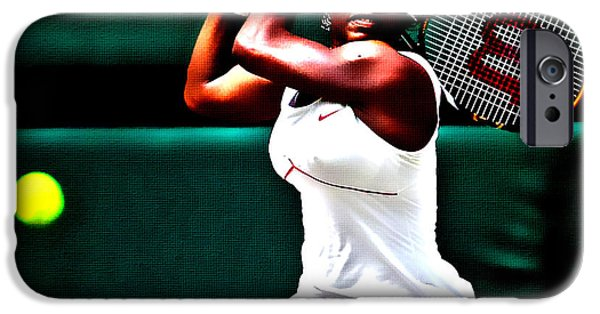 Wta Digital Art iPhone Cases - Serena Williams 3a iPhone Case by Brian Reaves