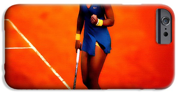 Wta iPhone Cases - Serena Williams 4a iPhone Case by Brian Reaves