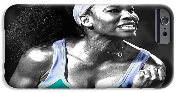 Wta iPhone Cases - Serena Williams Ace iPhone Case by Brian Reaves