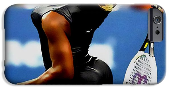 Wta iPhone Cases - Serena Williams Catsuit II iPhone Case by Brian Reaves