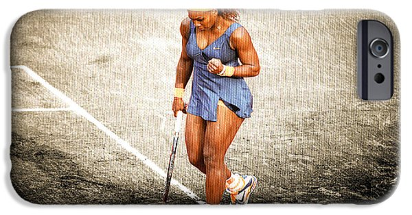 Best Sellers -  - French Open iPhone Cases - Serena Williams Count It iPhone Case by Brian Reaves