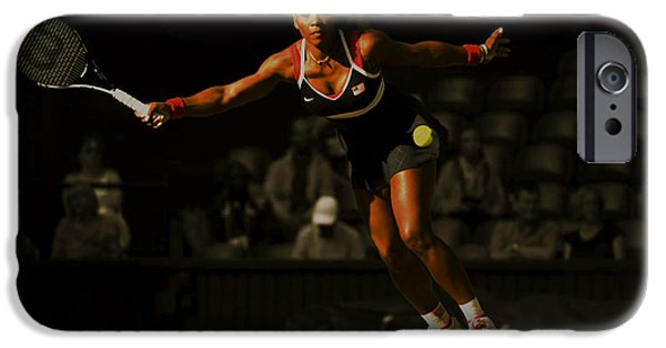Wta iPhone Cases - Serena Williams Grace iPhone Case by Brian Reaves