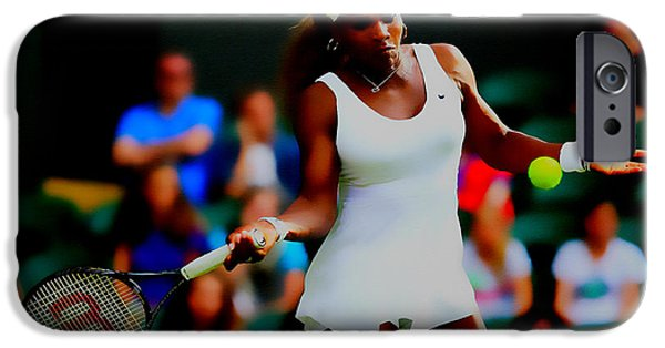 Wta Digital Art iPhone Cases - Serena Williams Making it Look Easy iPhone Case by Brian Reaves