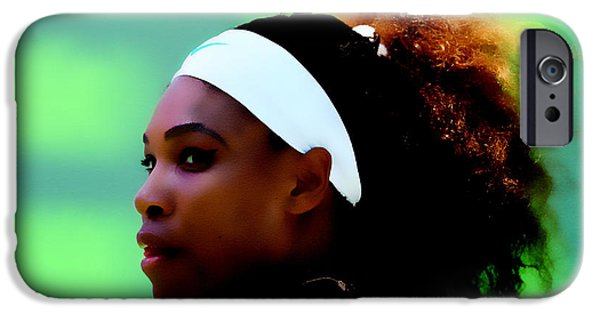 Wta Digital Art iPhone Cases - Serena Williams Match Point iPhone Case by Brian Reaves